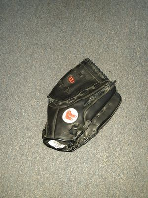 Kids wilson lefty redsox glove for Sale in Seekonk, MA