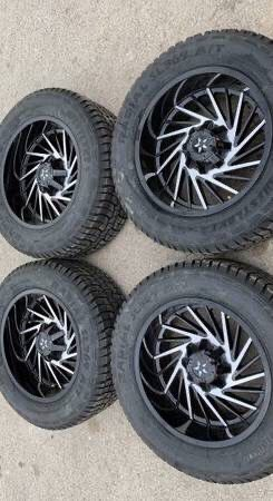 New 20x10 DFD Rims And New Tires 5 Lug Wheels la Chevy Silverado / Tahoe Rines y llantas 2016 Jeep 2017 JK 2015 2016 wrangler 2014 Jku 2013 rines 201 for Sale in Dallas, TX