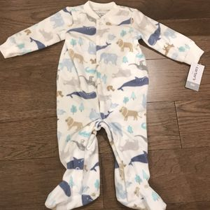 Carter's Baby Soft Fleece Animal Footed Pajama Sleeper Onesie - Size 6 Months for Sale in Boston, MA