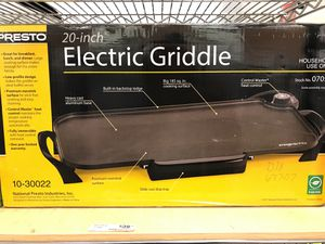Presto 20 inch electric griddle for Sale in Houston, TX