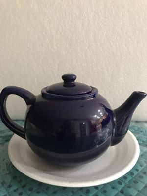 Porcelain teapot royal blue for Sale in Wildomar, CA