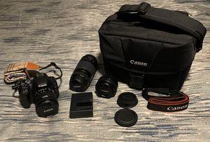 Canon EOS SL2 DSLR Camera 3 Lens Bundle for Sale in Moreno Valley, CA