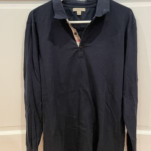 Men's Burberry Long Sleeve Polo Shirt for Sale in Milford, CT