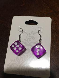 Purple Dice Earrings for Sale in Yakima,  WA