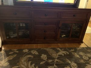 Solid wood entertainment center for Sale in Santa Clara, CA