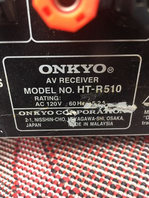 Onkyo HT R 510 100 watt receiver.. for Sale in Durham, NC