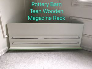 Pottery Barn Teen Wooden Magazine Rack for Sale in Issaquah, WA