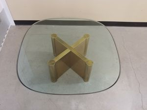 Mastercraft style brass and glass cocktail/coffee table for Sale in Seattle, WA