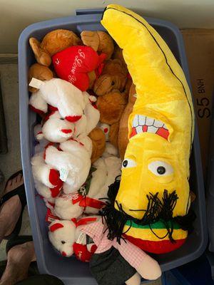 Bin full of new stuffed animals , valentines for Sale in Austin, TX