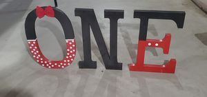 BIG LETTER Mickey Mouse theme for Sale in Monroe Township, NJ