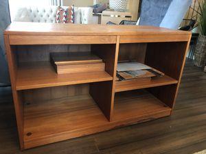 Wood entertainment unit/storage shelf for Sale in Renton, WA