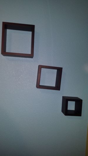 Floating Wall Mount Square Cube Shelves Set of 3 Black for Sale in Dublin, CA