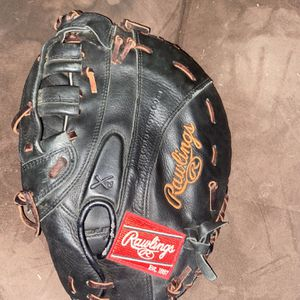 """Rawlings 12.5"""" Left Hand Throw Softball 1st Base Glove / Mitt Excellent Condition for Sale in Nuevo, CA"""