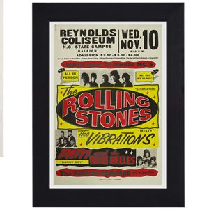 The Rolling Stones Mick Jagger classic rock pop print mini concert poster flyer music for Sale in Covina, CA