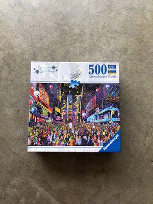 500 piece puzzle, cityscape puzzle, Ravensburger Puzzle, table puzzle for Sale in San Dimas, CA