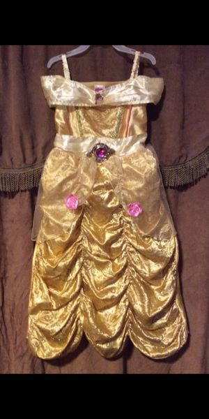 Beauty and the beast costume dress for girl size 4-6 for Sale in San Bernardino, CA