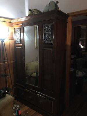 Antique cabinet with mirror for Sale in Washington, DC
