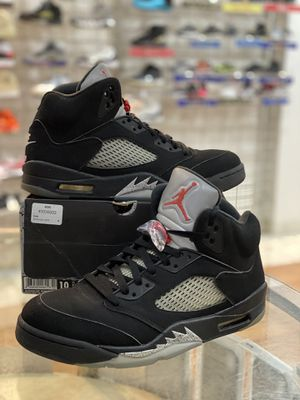Black Metallic 5s size 10 for Sale in Silver Spring, MD