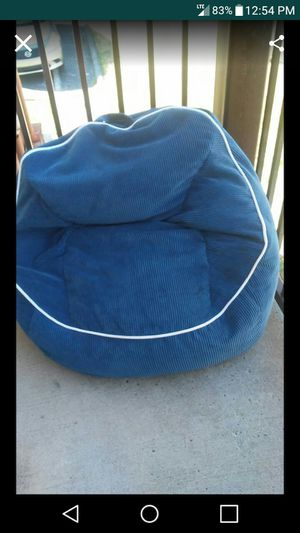 Blue Overall Bean Bag Chair for Sale in Nashville, TN
