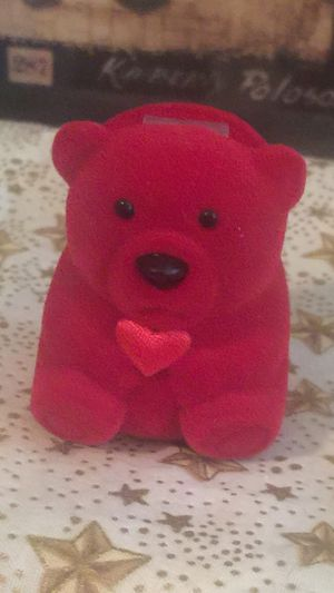 Teddy Bear ring case felt new no box smaller rings only for Sale in Northfield, OH
