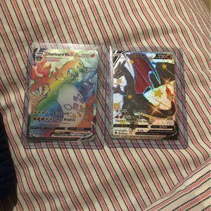 Shiny Charizard V And Charizard Vmax Rainbow for Sale in Atlanta, GA