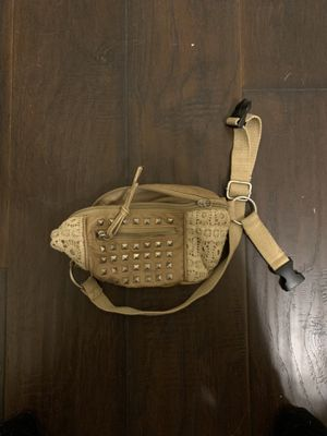 Tan Faux Leather Studded Fanny Pack Hip Back Waist Bag for Sale in Las Vegas, NV