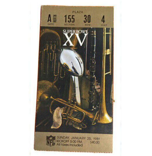 Super bowl XV ticket