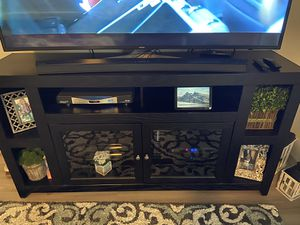 """65"""" Black Entertainment Stand - Perfect Condition for Sale in Peoria, AZ"""