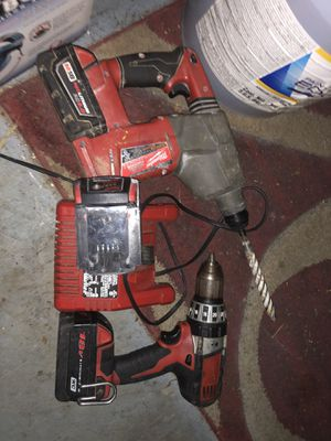 18 V Milwaukee Hammer drill and drill with charger for Sale in Nashville, TN