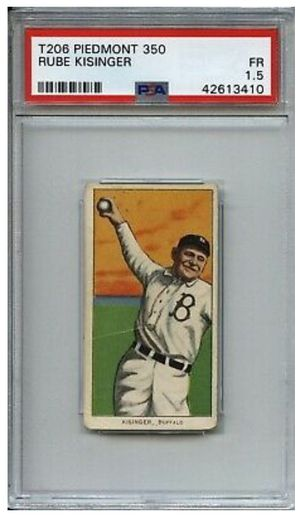 Piedmont back 1909 Rube Kisinger T206 baseball card for Sale for sale  Las Vegas, NV