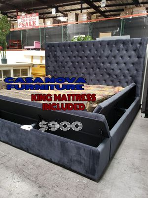 BRAND NEW BED FRAME CAL KING COMES IN BOX 📢📢📢📢MATTRESS INCLUDED for Sale in Compton, CA