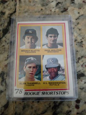 1978 Topps Paul Molitor / Alan Trammell Rookie Baseball Card for Sale in Lutz, FL