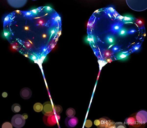 Heart shape LED balloons