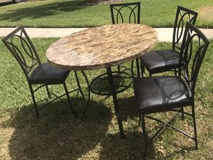 Pub table with bar height stools kitchen dining room set for Sale in Kenneth City, FL