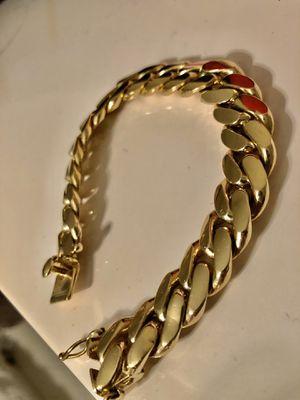 Cuban link Italian gold bracelet- 90grams solid for Sale in Dallas, TX