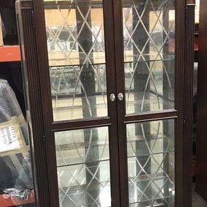 Curio Cabinet With Glass Shelves for Sale in Doraville, GA