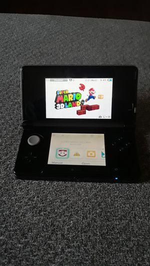 Metalic Black Nintendo 3ds W/ Super Mario 3d land for Sale in Clovis, CA