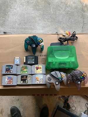 Jungle green Nintendo 64 for Sale in Acworth, GA
