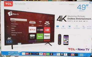 """TCL 49S403 49"""" 4K UHD HDR Roku Smart TV for Sale in Arlington, TX"""