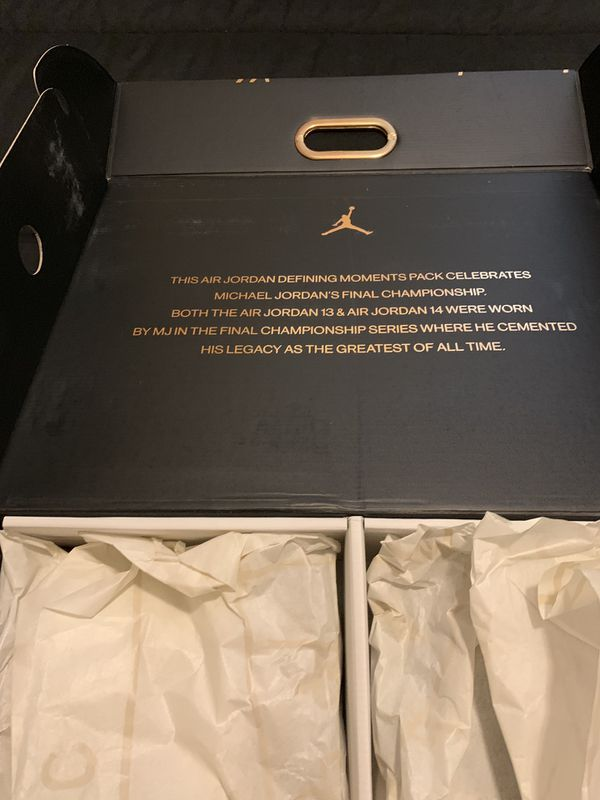 1a7981b52ba Jordan 12 AND 14 Defining Moments Edition sz 7Y for Sale in ...