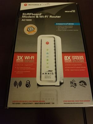 Motorola surfboard 1600 modem router combo for Sale in Atlanta, GA