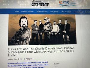 Travis Tritt and Charlie Daniels Band- 6/2/19- Cincinnati for Sale in Sharpsburg, KY