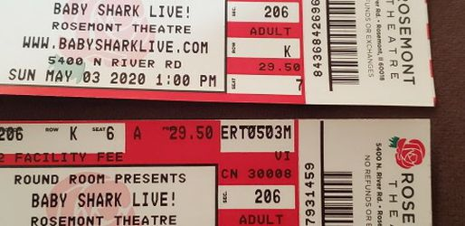 Baby Shark LIVE Tickets for Sale in Riverside,  IL