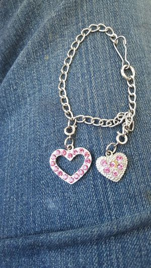 Beautiful dual heart charm bracelet for Sale in Denver, CO