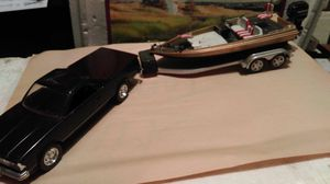 1984 Chevy El Camino and boat model set for Sale in Abilene, TX