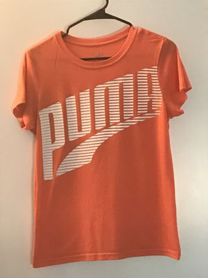 PUMA Logo Orange Short Sleeve Tee w White Wordmark for Sale in Portland, OR