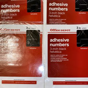 9 Sets Of Adhesive Letters And Numbers for Sale in Alpharetta, GA