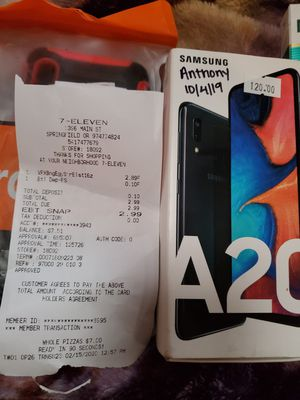 samsung a20 for metropcs/tmobile and case with holster clip for Sale in Springfield, OR