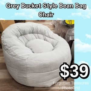 NEW Grey Bucket Style Kids Bean Bag Chair: njft kids for Sale in Burlington, NJ