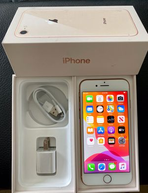 Mint condition iPhone 8 factory unlock 64GB Gold , Black and red for Sale in Glenview, IL